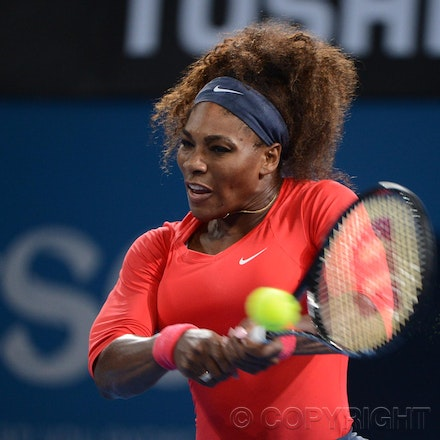 Blakeman_2013_0003443 - 5/1/13, Brisbane, Australia, Day 7 of the Brisbane International Tennis Held on Pat Rafter Arena. Serena WILLIAMS (USA) defeats...