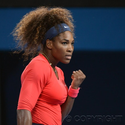 Blakeman_2013_0003447 - 5/1/13, Brisbane, Australia, Day 7 of the Brisbane International Tennis Held on Pat Rafter Arena. Serena WILLIAMS (USA) defeats...