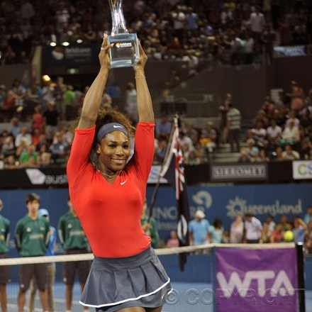 Blakeman_2013_0003759 - 5/1/13, Brisbane, Australia, Day 7 of the Brisbane International Tennis Held on Pat Rafter Arena. Serena WILLIAMS (USA) defeats...