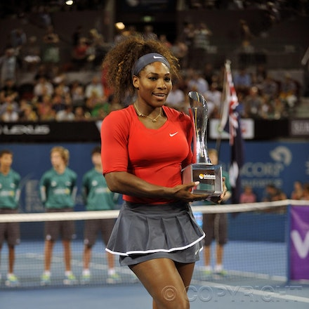 Blakeman_2013_0003778 - 5/1/13, Brisbane, Australia, Day 7 of the Brisbane International Tennis Held on Pat Rafter Arena. Serena WILLIAMS (USA) defeats...