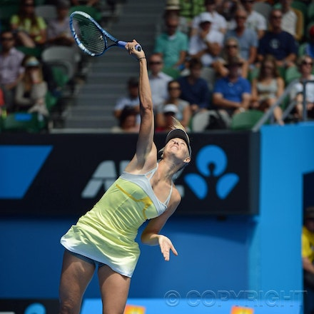 Blakeman_2013_0003871 - 14/1/13, Melbourne, Australia, Day 1 of the Australian Open Tennis. Maria SHARAPOVA Defeats Olga PUCHKOVA in straight sets. 6-0,...
