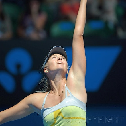 Blakeman_2013_0003887 - 14/1/13, Melbourne, Australia, Day 1 of the Australian Open Tennis. Maria SHARAPOVA Defeats Olga PUCHKOVA in straight sets. 6-0,...