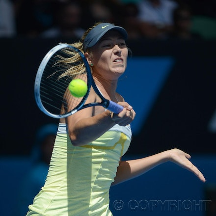Blakeman_2013_0003894 - 14/1/13, Melbourne, Australia, Day 1 of the Australian Open Tennis. Maria SHARAPOVA Defeats Olga PUCHKOVA in straight sets. 6-0,...
