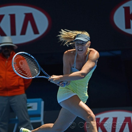 Blakeman_2013_0003923 - 14/1/13, Melbourne, Australia, Day 1 of the Australian Open Tennis. Maria SHARAPOVA Defeats Olga PUCHKOVA in straight sets. 6-0,...