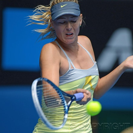 Blakeman_2013_0003935 - 14/1/13, Melbourne, Australia, Day 1 of the Australian Open Tennis. Maria SHARAPOVA Defeats Olga PUCHKOVA in straight sets. 6-0,...