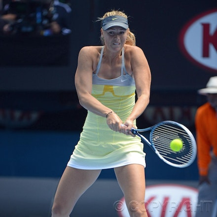 Blakeman_2013_0003954 - 14/1/13, Melbourne, Australia, Day 1 of the Australian Open Tennis. Maria SHARAPOVA Defeats Olga PUCHKOVA in straight sets. 6-0,...