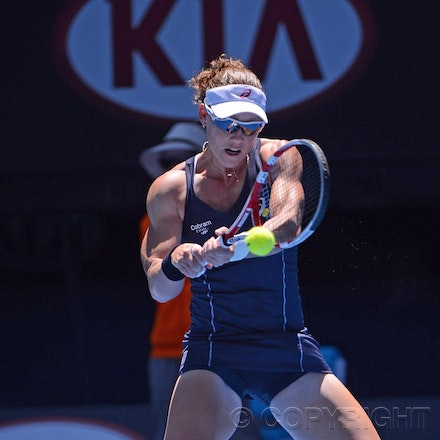 Blakeman_2013_0004486 - 14/1/13, Melbourne, Australia, Day 1 of the Australian Open Tennis. Samantha STOSUR (AUS) defeats Kai-Chen Chang (TPE) 7(7)-6(3),...