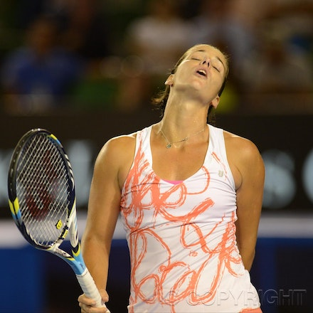 Blakeman_2013_0008462 - 15/1/13, Melbourne, Australia, Day 2 of the Australian Open Tennis. Yanina WICKMAYER (BEL) defeats Jarmila GAJDOSOVA (AUS) 6-1,...