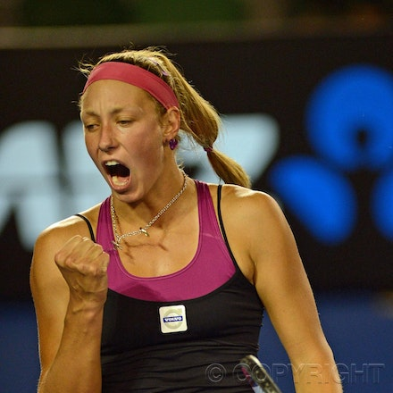 Blakeman_2013_0008541 - 15/1/13, Melbourne, Australia, Day 2 of the Australian Open Tennis. Yanina WICKMAYER (BEL) defeats Jarmila GAJDOSOVA (AUS) 6-1,...