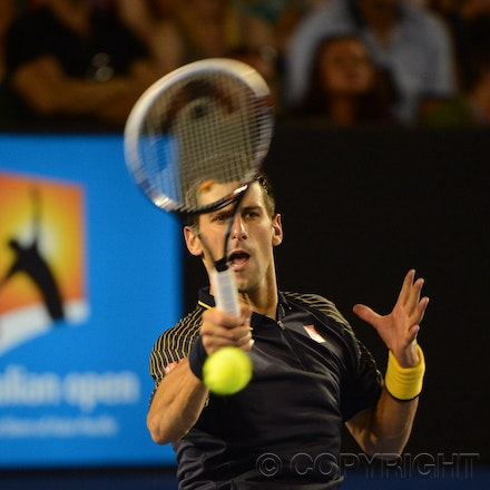 Blakeman_2013_0010607 - 16/1/13, Melbourne, Australia, Day 3 of the Australian Open Tennis. Novak DJOKOVIC (SRB) defeats Ryan HARRISON (USA) 6-1, 6-2,...