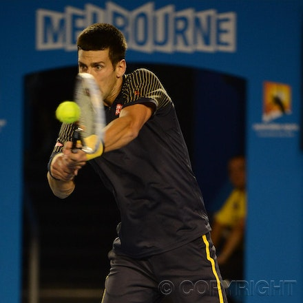 Blakeman_2013_0010666 - 16/1/13, Melbourne, Australia, Day 3 of the Australian Open Tennis. Novak DJOKOVIC (SRB) defeats Ryan HARRISON (USA) 6-1, 6-2,...