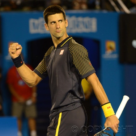 Blakeman_2013_0010683 - 16/1/13, Melbourne, Australia, Day 3 of the Australian Open Tennis. Novak DJOKOVIC (SRB) defeats Ryan HARRISON (USA) 6-1, 6-2,...