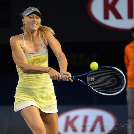 Blakeman_2013_0014788 - 18/1/13, Melbourne, Australia, Day 5 of the Australian Open Tennis. Maria SHARAPOVA defeats Venus WILLIAMS 6-1, 6-3