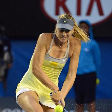 Blakeman_2013_0014851 - 18/1/13, Melbourne, Australia, Day 5 of the Australian Open Tennis. Maria SHARAPOVA defeats Venus WILLIAMS 6-1, 6-3