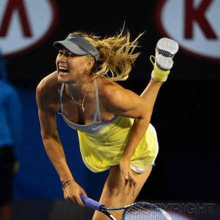 Blakeman_2013_0014867 - 18/1/13, Melbourne, Australia, Day 5 of the Australian Open Tennis. Maria SHARAPOVA defeats Venus WILLIAMS 6-1, 6-3