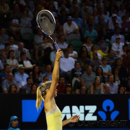Blakeman_2013_0014912 - 18/1/13, Melbourne, Australia, Day 5 of the Australian Open Tennis. Maria SHARAPOVA defeats Venus WILLIAMS 6-1, 6-3