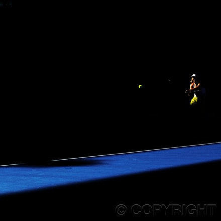 Blakeman_2013_0017571 - 18/1/13, Melbourne, Australia, Day 6 of the Australian Open Tennis. Roger FEDERER (SUI) defeats Bernard TOMIC (AUS) 6-4, 7(7)-6(5),...