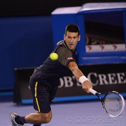 Blakeman_2013_0020914 - 19/1/13, Melbourne, Australia, Day 7 of the Australian Open Tennis. Novak DJOKOVIC (SRB)defeats Stanisias WAWRINKA (SUI) 1-6, 7-5,...