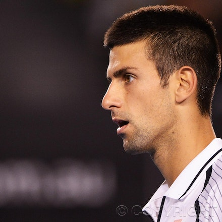 Blakeman_2013_0026125 - 22/1/13, Melbourne, Australia, Day 9 of the Australian Open Tennis. Novak DJOKOVIC (SRB) defeats Tomas BERDYCH 6-1, 4-6, 6-1, 6-4