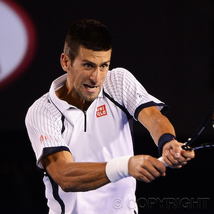 Blakeman_2013_0026134 - 22/1/13, Melbourne, Australia, Day 9 of the Australian Open Tennis. Novak DJOKOVIC (SRB) defeats Tomas BERDYCH 6-1, 4-6, 6-1, 6-4