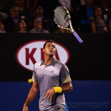Blakeman_2013_0029134 - 23/1/13, Melbourne, Australia, Day 10 of the Australian Open Tennis. Roger FEDERER (SUI) defeats Jo-Wilfried TSONGA (FRA) 7(7)-6(4),...