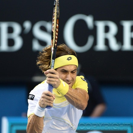 Blakeman_2013_0031009 - 24/1/13, Melbourne, Australia, Day 11 of the Australian Open Tennis. Novak DJOKOVIC (SRB) defeats David FERRER (ESP) 6-2, 6-2,...