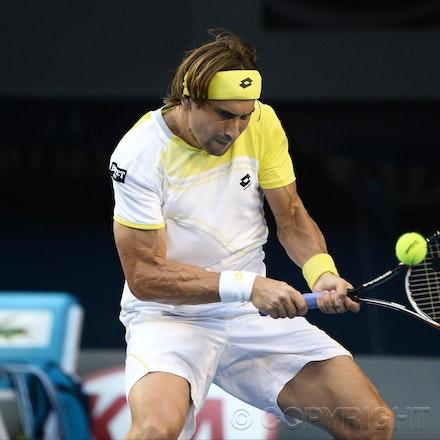 Blakeman_2013_0031012 - 24/1/13, Melbourne, Australia, Day 11 of the Australian Open Tennis. Novak DJOKOVIC (SRB) defeats David FERRER (ESP) 6-2, 6-2,...