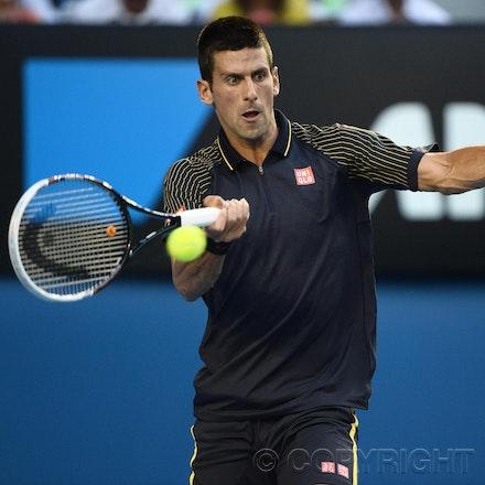 Blakeman_2013_0031016 - 24/1/13, Melbourne, Australia, Day 11 of the Australian Open Tennis. Novak DJOKOVIC (SRB) defeats David FERRER (ESP) 6-2, 6-2,...