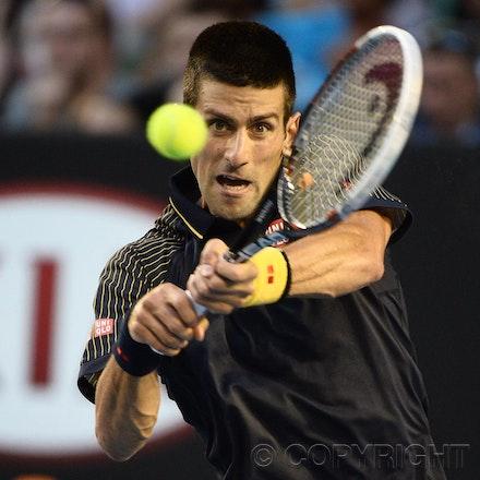 Blakeman_2013_0031019 - 24/1/13, Melbourne, Australia, Day 11 of the Australian Open Tennis. Novak DJOKOVIC (SRB) defeats David FERRER (ESP) 6-2, 6-2,...