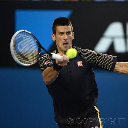 Blakeman_2013_0031026 - 24/1/13, Melbourne, Australia, Day 11 of the Australian Open Tennis. Novak DJOKOVIC (SRB) defeats David FERRER (ESP) 6-2, 6-2,...