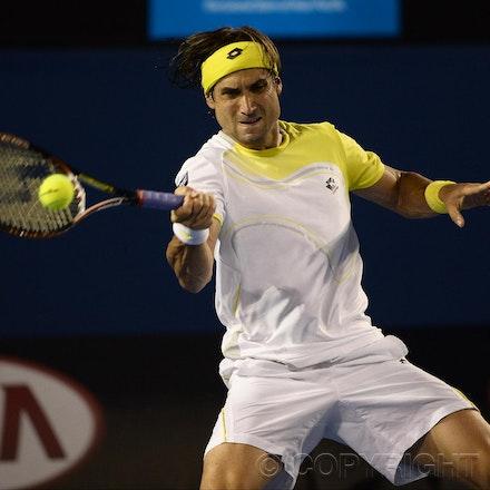 Blakeman_2013_0031075 - 24/1/13, Melbourne, Australia, Day 11 of the Australian Open Tennis. Novak DJOKOVIC (SRB) defeats David FERRER (ESP) 6-2, 6-2,...