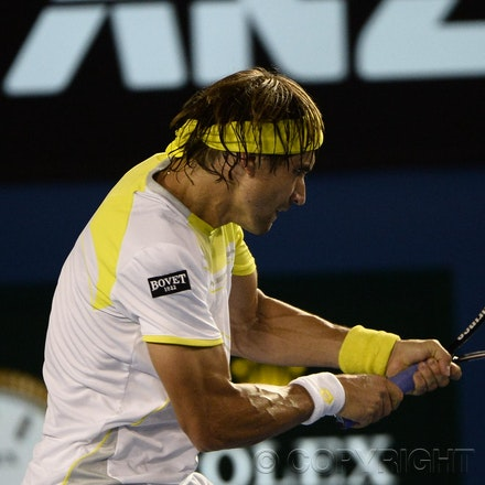 Blakeman_2013_0031081 - 24/1/13, Melbourne, Australia, Day 11 of the Australian Open Tennis. Novak DJOKOVIC (SRB) defeats David FERRER (ESP) 6-2, 6-2,...