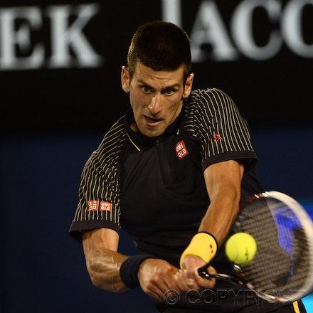 Blakeman_2013_0031122 - 24/1/13, Melbourne, Australia, Day 11 of the Australian Open Tennis. Novak DJOKOVIC (SRB) defeats David FERRER (ESP) 6-2, 6-2,...