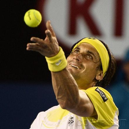 Blakeman_2013_0031133 - 24/1/13, Melbourne, Australia, Day 11 of the Australian Open Tennis. Novak DJOKOVIC (SRB) defeats David FERRER (ESP) 6-2, 6-2,...
