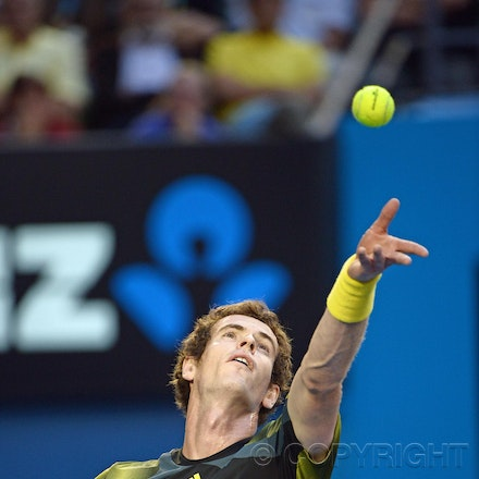 Blakeman_2013_0032275 - 25/1/13, Melbourne, Australia, Day 12 of the Australian Open Tennis. Andy MURRAY (GBR) Defeats Roger FEDERER 6-4, 6(5)-7(7), 6-3,...