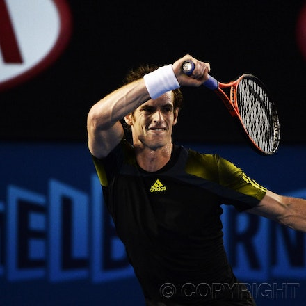 Blakeman_2013_0032366 - 25/1/13, Melbourne, Australia, Day 12 of the Australian Open Tennis. Andy MURRAY (GBR) Defeats Roger FEDERER 6-4, 6(5)-7(7), 6-3,...