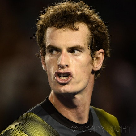 Blakeman_2013_0032397 - 25/1/13, Melbourne, Australia, Day 12 of the Australian Open Tennis. Andy MURRAY (GBR) Defeats Roger FEDERER 6-4, 6(5)-7(7), 6-3,...