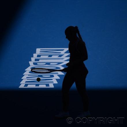 Blakeman_2013_0005508 - 14/1/13, Melbourne, Australia, Day 1 of the Australian Open Tennis. Dominika CIBULKOVA (SVK) defeats Ashleigh BARTY 3-6, 6-0, 6-1