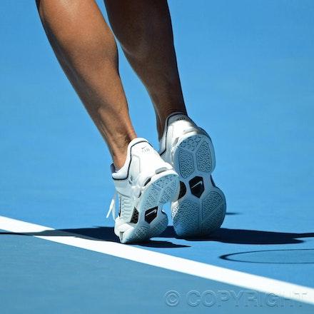 Blakeman_2013_0008801 - 16/1/13, Melbourne, Australia, Day 3 of the Australian Open Tennis. Jie ZHENG (CHN) defeats Samantha STOSUR (AUS) 6-4, 1-6, 7-5