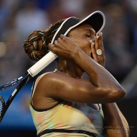Blakeman_2013_0010488 - 16/1/13, Melbourne, Australia, Day 3 of the Australian Open Tennis. Venus WILLIAMS (USA) defeats Alize CORNET (FRA) 6-3 6-3