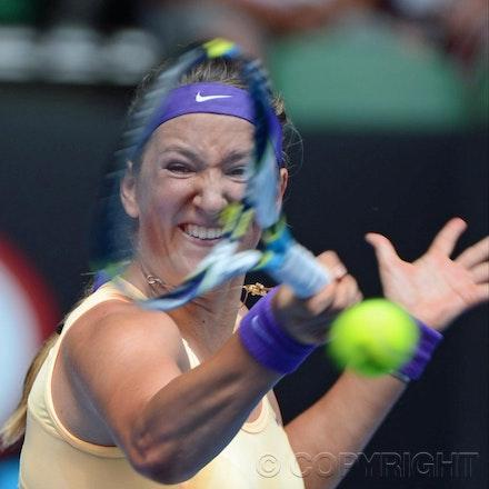 Blakeman_2013_0010848 - 16/1/13, Melbourne, Australia, Day 3 of the Australian Open Tennis. Victoria AZARENKA (BLR) defeats Eleni DANIILIDOU (GRE) 6-1,...