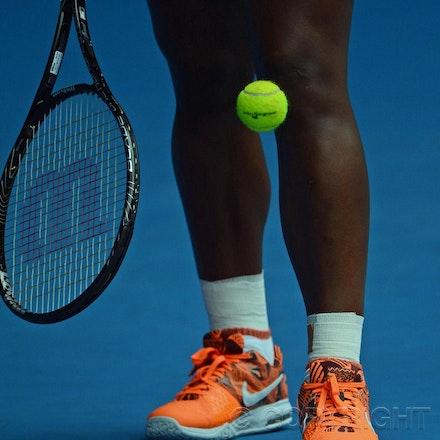 Blakeman_2013_0010985 - 17/1/13, Melbourne, Australia, Day 4 of the Australian Open Tennis. Serena WILLIAMS (USA) defeats Garbine MUGURUZA (ESP) 6-2, 6-0