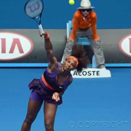 Blakeman_2013_0011210 - 17/1/13, Melbourne, Australia, Day 4 of the Australian Open Tennis. Serena WILLIAMS (USA) defeats Garbine MUGURUZA (ESP) 6-2, 6-0