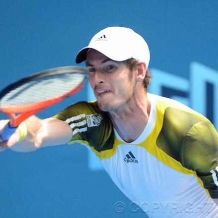 Blakeman_2013_0011475 - 17/1/13, Melbourne, Australia, Day 4 of the Australian Open Tennis. Andy MURRAY (GBR) defeats Joao SOUSA (POR) 6-2, 6-2, 6-4