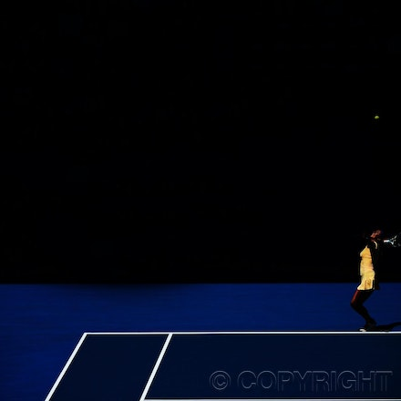 Blakeman_2013_0015308 - 18/1/13, Melbourne, Australia, Day 6 of the Australian Open Tennis. Victoria AZARENKA (BLR) defeats Jennie HAMPTON (USA) 6-4, 4-6,...