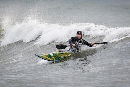140413_surfkayaking_4912 - JBK staff member Matt Goodwin surf kayaking  at Huskisson (Jervis Bay), NSW (Australia) on April 13 2014. Photo: Jan Vokaty