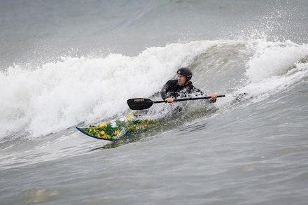 140413_surfkayaking_4918 - JBK staff member Matt Goodwin surf kayaking  at Huskisson (Jervis Bay), NSW (Australia) on April 13 2014. Photo: Jan Vokaty