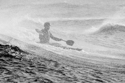 140413_surfkayaking_5239 - JBK staff member Matt Goodwin surf kayaking at Huskisson (Jervis Bay), NSW (Australia) on April 13 2014. Photo: Jan Vokaty