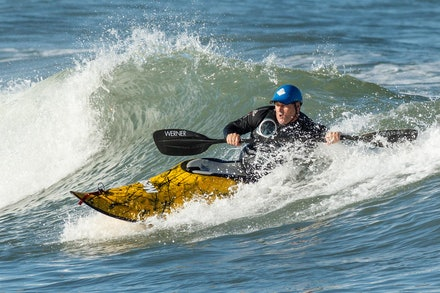 140413_surfkayaking_5888 - Ross Boardman of JB Kayaks surf kayaking  at Huskisson (Jervis Bay), NSW (Australia) on April 13 2014. Photo: Jan Vokaty