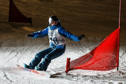 140811_DefenceForce_2994 - Army/Navy/Airforce athletes competing during night dual snowboard race at Perisher, NSW (Australia) on August 11 2014. Photo:...
